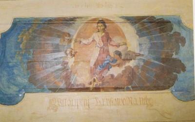 Karzatfreskó - Jézus mennybemenetele